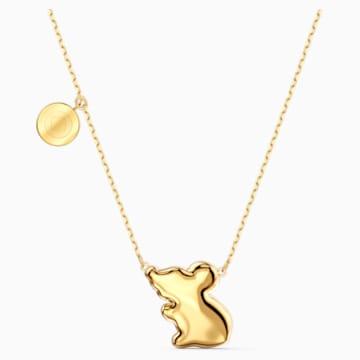 Chinese Zodiac Rat Necklace, Aqua, Gold-tone plated - Swarovski, 5512646