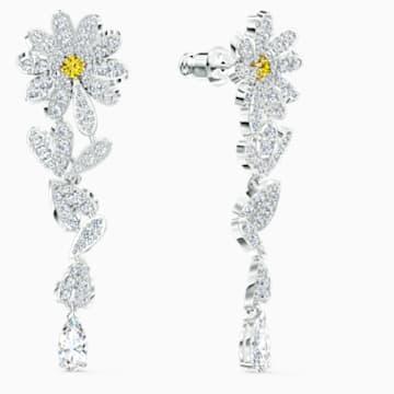 Pendientes Eternal Flower, amarillo, combinación de acabados metálicos - Swarovski, 5512655