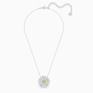 Eternal Flower 链坠, 黄色, 镀铑 - Swarovski, 5512660