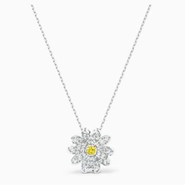 Colgante Eternal Flower, amarillo, combinación de acabados metálicos - Swarovski, 5512662