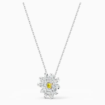 Pendentif Eternal Flower, jaune, finition mix de métal - Swarovski, 5512662