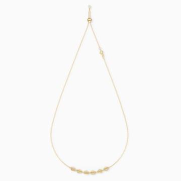 Gargantilla Shell, blanco, baño tono oro - Swarovski, 5512712