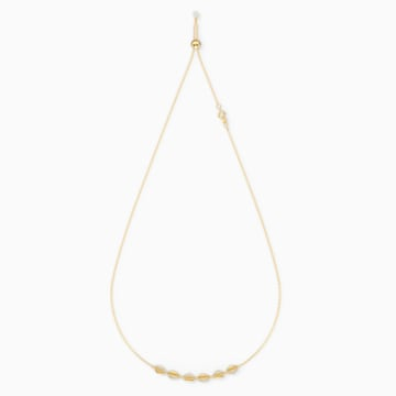 Shell Choker, White, Gold-tone plated - Swarovski, 5512712