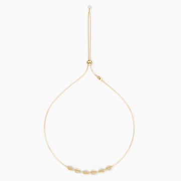 Shell Halsband, weiss, vergoldet - Swarovski, 5512712