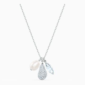 So Cool Cluster白色仿水晶珍珠项链 - Swarovski, 5512732