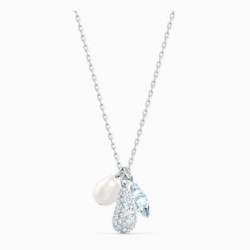 So Cool Cluster Necklace, White, Rhodium plated - Swarovski, 5512732