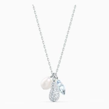 So Cool Cluster Necklace, White, Rhodium plated - Swarovski, 5512732