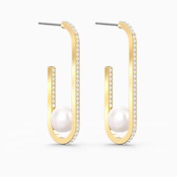 So Cool Pearl Ohrringe, weiss, vergoldet - Swarovski, 5512736