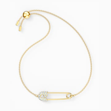 So Cool Pin 手链, 白色, 镀金色调 - Swarovski, 5512739