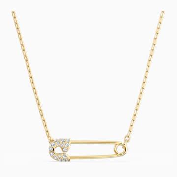 So Cool Pin Halskette, weiss, vergoldet - Swarovski, 5512760
