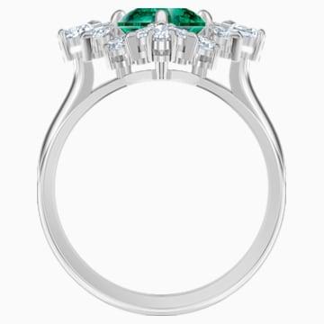 Palace Motif Ring, Green, Rhodium plated - Swarovski, 5513214