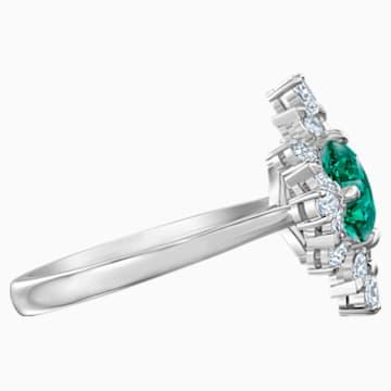Palace motívumos gyűrű, zöld színű, ródium bevonattal - Swarovski, 5513223