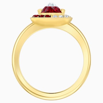 Black Baroque Motif Ring, Red, Gold-tone plated - Swarovski, 5513245