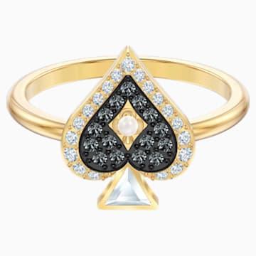 Tarot Magic 戒指套裝, 多色設計, 鍍金色色調 - Swarovski, 5513249