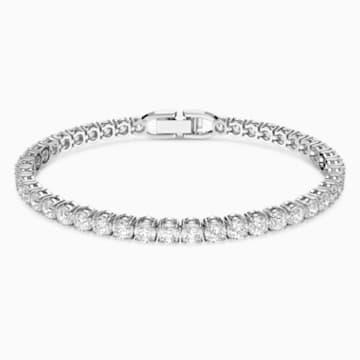 Tennis Deluxe Armband, weiss, rhodiniert - Swarovski, 5513401