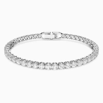 Tennis Deluxe Bracelet White Rhodium Plated Swarovski Com