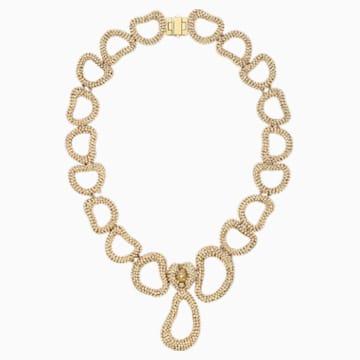 Tigris Necklace, Gold tone, Gold-tone plated - Swarovski, 5513784