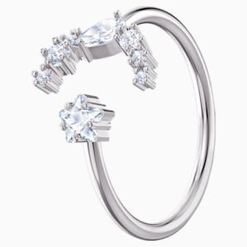 Penélope Cruz Moonsun 開口戒指, 白色, 鍍白金色 - Swarovski, 5513976