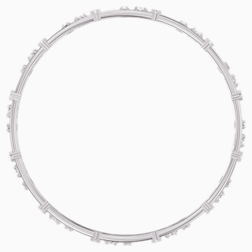 Moonsun Bangle Set, White, Rhodium plated - Swarovski, 5513979