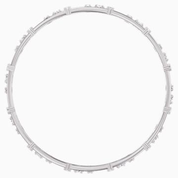 Penélope Cruz Moonsun Cluster Bangle, White, Rhodium plated - Swarovski, 5513979