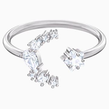 Penélope Cruz Moonsun Open Ring, White, Rhodium plated - Swarovski, 5513982