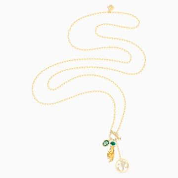 Swarovski Symbolic Hand Om Anhänger, grün, vergoldet - Swarovski, 5514407