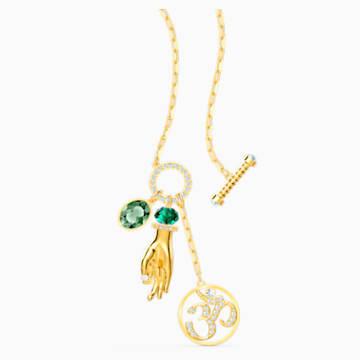Swarovski Symbolic Hand Om Подвеска, Зеленый Кристалл, Покрытие оттенка золота - Swarovski, 5514407