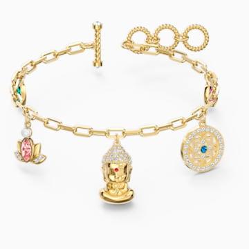 Bracelet Swarovski Symbolic Buddha, multicolore clair, métal doré - Swarovski, 5514410