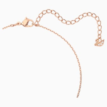Swarovski Sparkling Dance Clover Halskette, rosa, Rosé vergoldet - Swarovski, 5514488