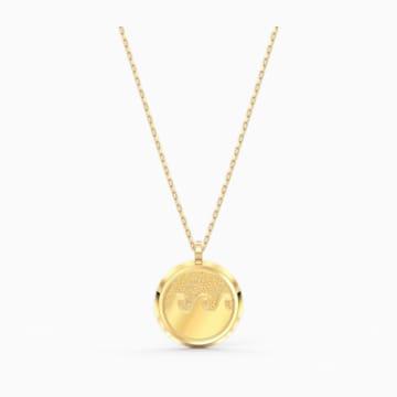 Pendente Shine Wave, multicolore chiaro, placcato color oro - Swarovski, 5514494