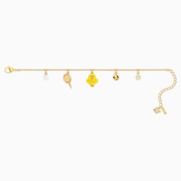 Line Friends Tennis 手链, 浅色渐变, 镀金色调 - Swarovski, 5514516