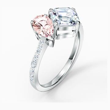 Attract Soul 戒指, 粉紅色, 鍍白金色 - Swarovski, 5514541