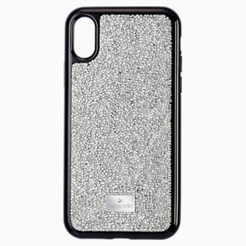 Custodia per smartphone Glam Rock, iPhone® XS Max, tono argentato - Swarovski, 5515013