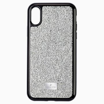 Glam Rock okostelefon tok, iPhone® XS Max, ezüst árnyalat - Swarovski, 5515013