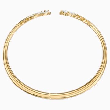 Nice Bangle, White, Gold-tone plated - Swarovski, 5515019