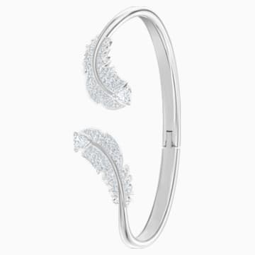 Nice Bangle, White, Rhodium plated - Swarovski, 5515022