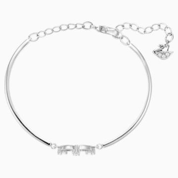 Bracelet-jonc North, blanc, Métal rhodié - Swarovski, 5515024