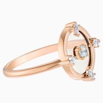 North Motif Ring, White, Rose-gold tone plated - Swarovski, 5515025