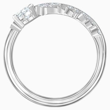 Nice-ring met motief, Wit, Rodium-verguld - Swarovski, 5515029