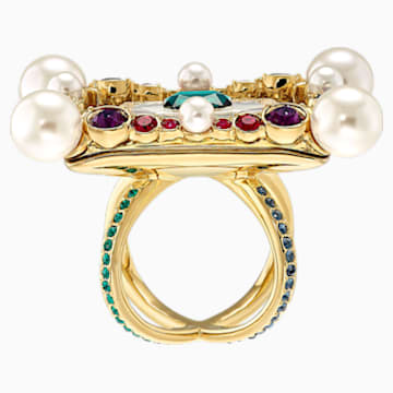 Vintage Opulescence Cocktail Ring, Multi-coloured, Gold-tone plated - Swarovski, 5515190