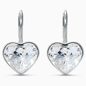 Orecchini Bella Heart, bianco, placcato rodio - Swarovski, 5515191