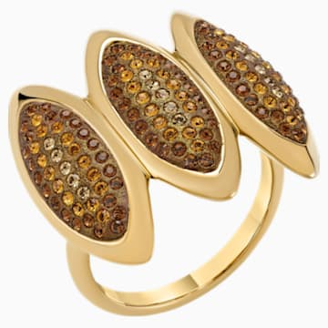 Evil Eye Cocktail Ring, Brown, Gold-tone plated - Swarovski, 5515319