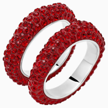 Tigris 疊戴介指, 紅色, 鍍鈀色 - Swarovski, 5515321