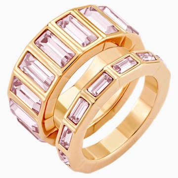 Fluid Stacking Ring, Violet, Rose-gold tone plated - Swarovski, 5515359