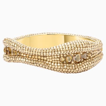 Tigris Bangle, Gold tone, Gold-tone plated - Swarovski, 5515365