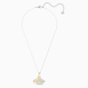 Stunning Ginko 链坠, 白色, 多种金属润饰 - Swarovski, 5515462