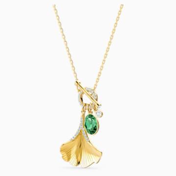 Collier Stunning Ginko, vert, métal doré - Swarovski, 5515465