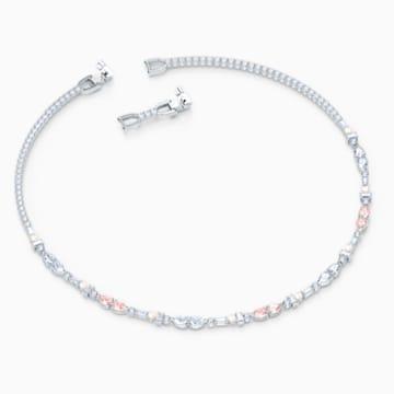 Perfection Chaton Halskette, rosa, rhodiniert - Swarovski, 5515514