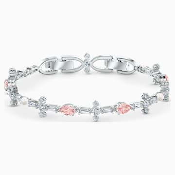 Parure Perfection, rose, métal rhodié - Swarovski, 5515515