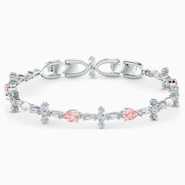 Sada Perfection, růžová, rhodiovaná - Swarovski, 5515515